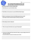 American Revolution Test - 4th Grade