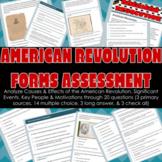 American Revolution Test Google Form Assessment   Revoluti