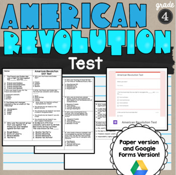 American Revolution Test SS4H1