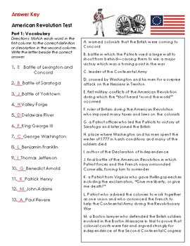 American Revolution Tests (2 Tests: Causes and Revolution)