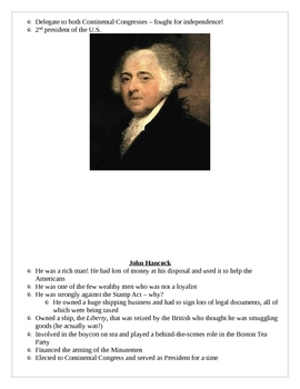 American Revolution - The Firebrands Scavenger Hunt and Clues
