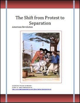 American Revolution The Shift from Protest to Separation Differentiated Lesson