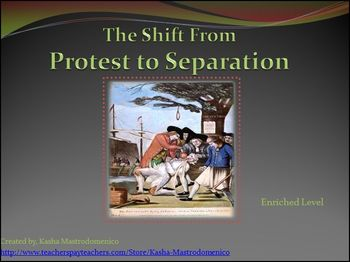 American Revolution The Shift from Protest to Separation PowerPoint