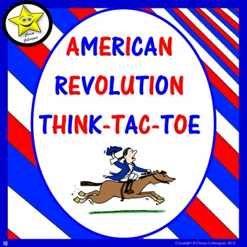 American Revolution Choice Board Assessment