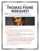 American Revolution - Thomas Paine - Webquest with Key