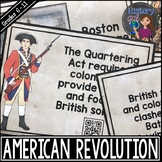 American Revolution Timeline Activity