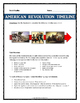 American Revolution - Timeline Assignment with Key, Guide and Rubric