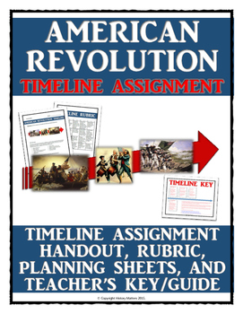 American Revolution - Timeline Assignment with Key, Guide