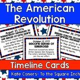 American Revolution Timeline Cards *Combo Pack*