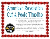 American Revolution Timeline - Cut & Paste Activity