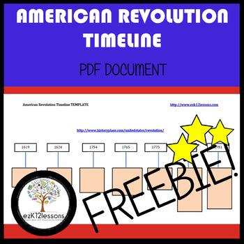 American Revolution Timeline | FREEBIE! | PDF file
