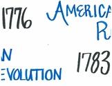 American Revolution Timeline Ladder