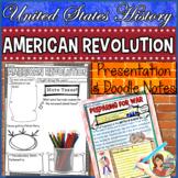 American Revolution Timeline, Google Slides & Doodle Notes Distance Learning