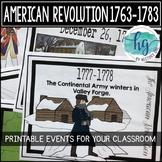 American Revolution Timeline Printable