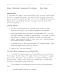American Revolution Timeline Project