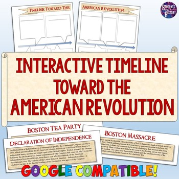american revolution interactive timeline project by students of history. Black Bedroom Furniture Sets. Home Design Ideas