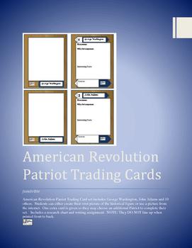 American Revolution Trading Cards