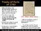 American Revolution - Treaty of Paris Analysis