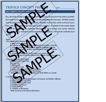 American Revolution Trifold Project