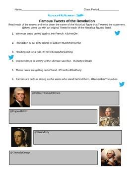 American Revolution Twitter