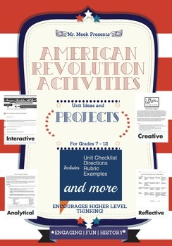 American Revolution Unit Activities and Projects