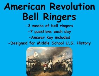 American Revolution Unit Bell Ringers