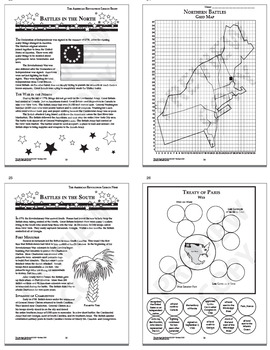 American Revolution Interactive Notebook Unit (NINE Revolutionary War Lessons!)