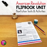 American Revolution Unit: Informational Texts & Activities  Low Prep