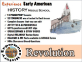American Revolution Unit: Lessons, Readings, Breakouts & Tests/ Middle School