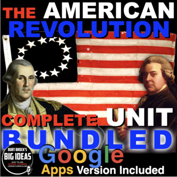 American Revolution Unit: Causes, War & Constitution: PPTs, Worksheets & More!