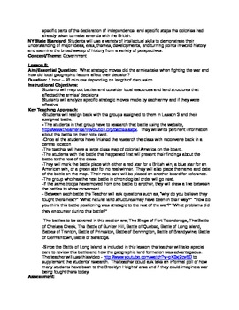 American Revolution Unit Plan for 4th Grade and UP