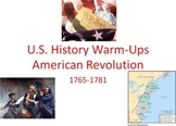 American Revolution Unit Starter Pack: 25 Bellringers and 5 assignments