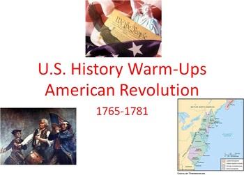 American Revolution Unit Starter Pack: 25 Bellringers and
