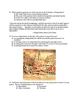American Revolution Unit Test