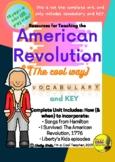 American Revolution Unit VOCAB ONLY- (Hamilton, I Survived
