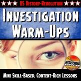 American Revolution Unit Warm-Ups Skill Based, Mini Lessons, Bell Ringers