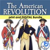 American Revolution Unit and Lapbook Print & Digital Dista