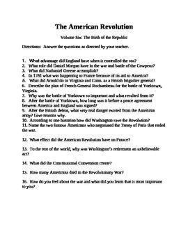 American Revolution Video: Part 6: Birth of the Republic (1994)