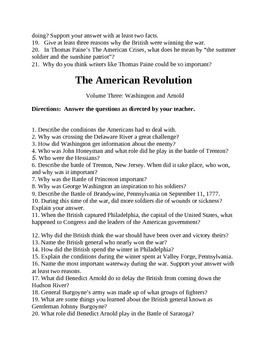 American Revolution Video Questions (1994) History Channel/A and E