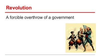 American Revolution - Vocabulary