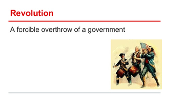 American Revolution - Vocabulary