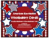 Vocabulary Cards-Social Studies: American Revolution/Revolutionary War