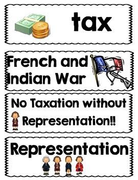 American Revolution Vocabulary Cards