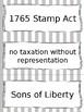 American Revolution Vocabulary Cards - SS4H1