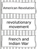 American Revolution Vocabulary Cards - SS4H1