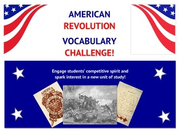 American Revolution Vocabulary Challenge