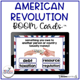 American Revolution Vocabulary Digital Boom Cards™ | Distance Learning