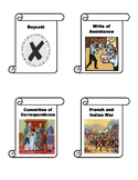 American Revolution Vocabulary Matching Cards