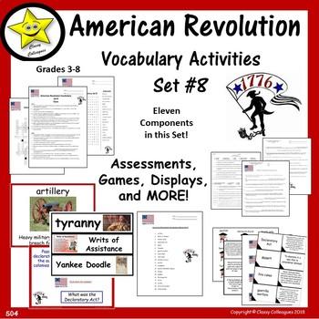 American Revolution Vocabulary Set 8