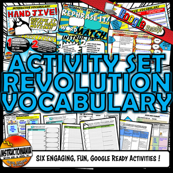 American Revolution Vocabulary Set Mini Bundle